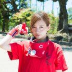 古田ちさこのwiki、結婚式や始球式がかわいい、胸のカップとグラビア写真がヤバイ【カープ女子神3】